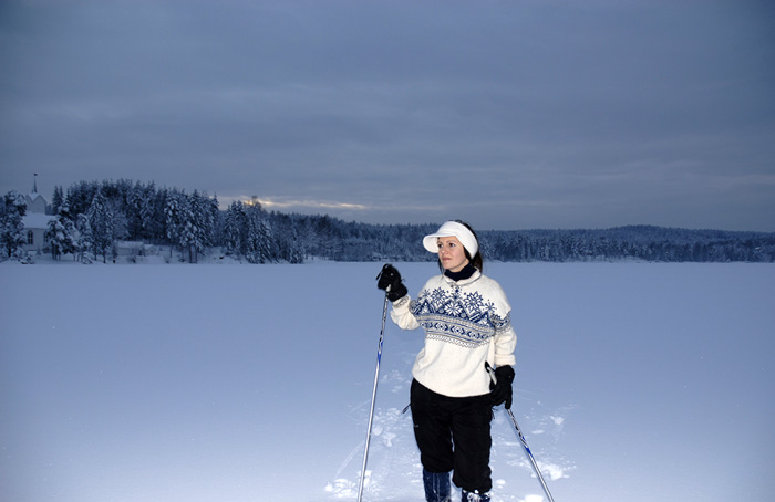 Skitur på isen