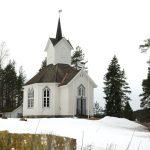 Kilebygda kirke i vinterdrakt